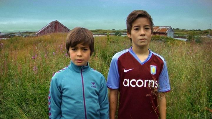 The jersey of the football team of Aston Villa 2009-2010 Home in Brødre: Markus and Lukas - Movie Outfits and Products