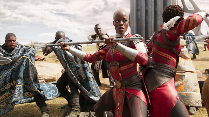 The lance guards the Dora Milaje in Black Panther - Movie Outfits and Products
