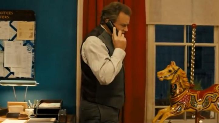 "The landline phone black Mr. Brown (Hugh Bonneville) in ""Paddington"" - Movie Outfits and Products"