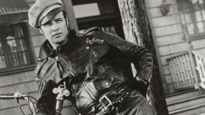 The leather Biker jacket of Johnny Strabler (Marlon Brando) in equipped Wild movie