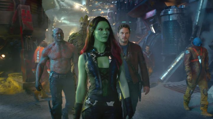 The leather combination of Gamora (Zoe Saldana) in The guardians of the galaxy vol 2 - Movie Outfits and Products