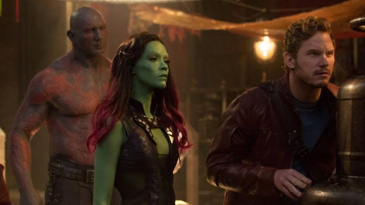 The leather costume of Gamora (Zoe Saldana) in The Guardians of the Galaxy Movie