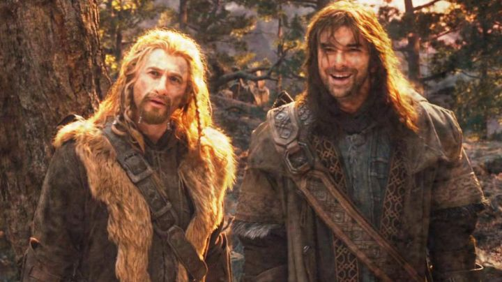 The leather jacket Kili (Aidan Turner) in The Hobbit : An unexpected journey Movie