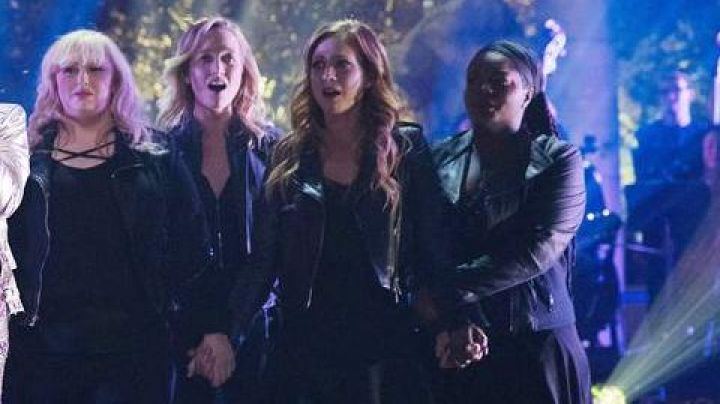The leather jacket Marc New York by Cynthia (Ester Dean) in Pitch Perfect 3 - Movie Outfits and Products