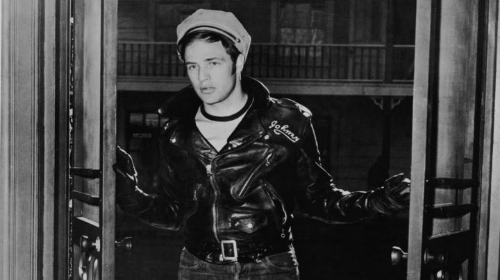 The leather jacket Schott NYC Johnny Strabler (Marlon Brando) in equipped Wild movie