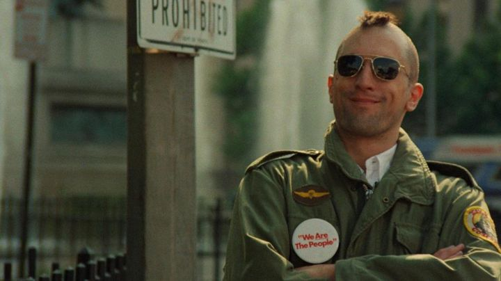 The leather jacket military M-65 Travis Bickle (Robert De Niro) in Taxi Driver movie