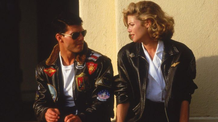 Fashion Trends 2021: The leather jacket of Charlotte Blackwood / Charlie (Kelly McGillis) in Top Gun