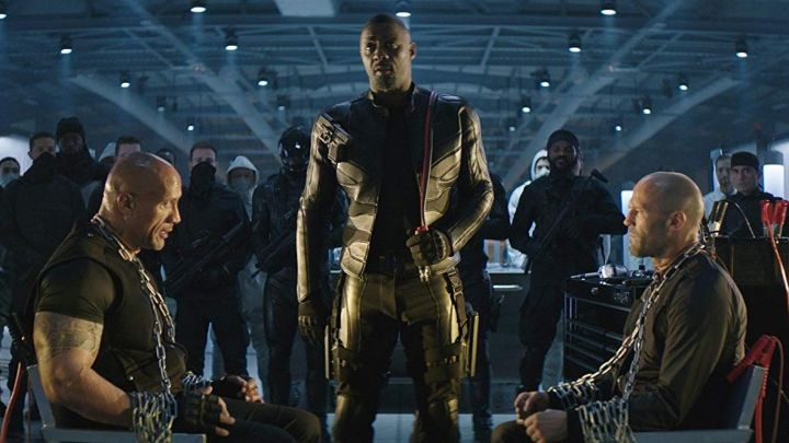 The leather jacket worn by Brixton (Idris Elba) in Fast & Furious Presents: Hobbs & Shaw movie