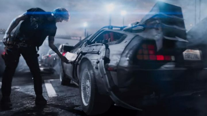 The license plate of the De Lorean of Percival (Tye Sheridan) in Ready Player One Movie