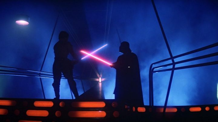 The lightsaber of Darth Vader in Star Wars episode V : The empire strikes back - Movie Outfits and Products
