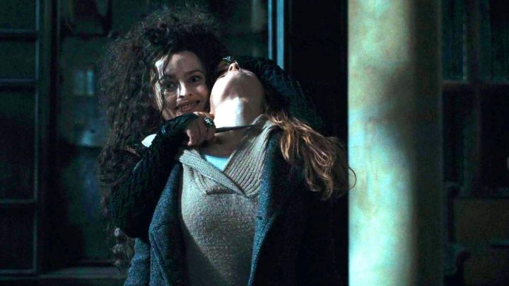 The magic wand of Bellatrix Lestrange (Helena Bonham Carter) in Harry Potter and the deathly hallows part 1 Movie