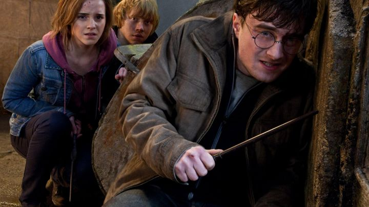 The magic wand of Harry Potter (Daniel Radcliffe) in Harry Potter and the Deathly hallows - part 2 movie