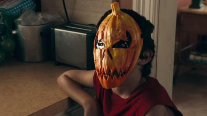The mask Pumpkin of the little child