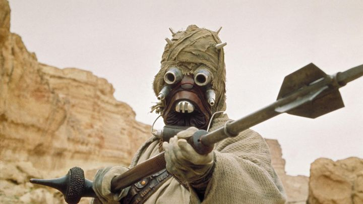 The mask Tusken in Star Wars IV : A new hope