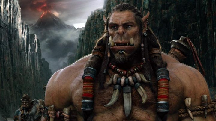 Fashion Trends 2021: The mask of Durotan (Toby Kebbell) in Warcraft : The beginning