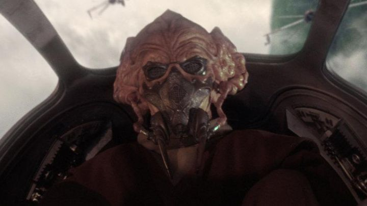 The mask of Plo Koon in Star Wars I : The phantom menace