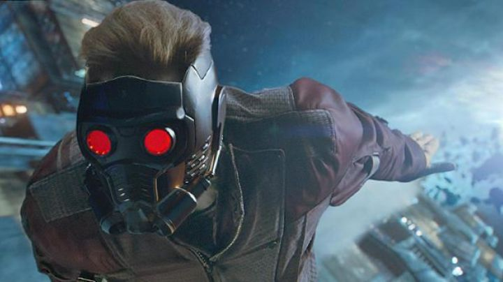 The mask of Star-Lord (Chris Pratt) in Guardians of the Galaxy movie