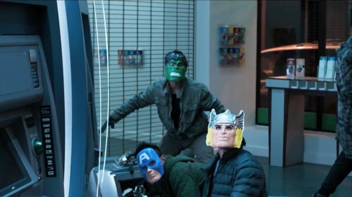 The mask of the Hulk carried by one of the villains in Spider-Man : Homecoming - Movie Outfits and Products