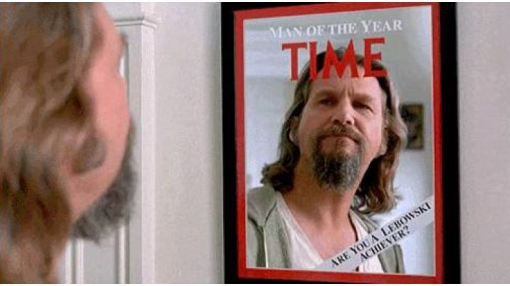 """The mirror """"Time : Man of The Year"""" in The Big Lebowski - Movie Outfits and Products"""