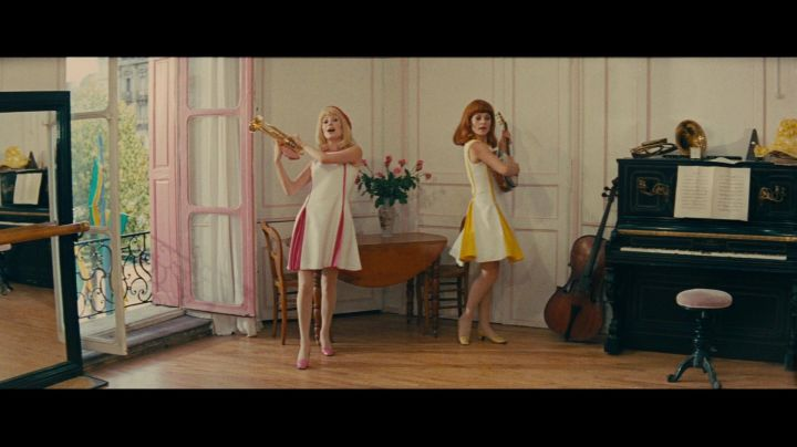 The office of the mayor of Rochefort transformed into a studio/apartment of the young girls of Rochefort - Movie Outfits and Products