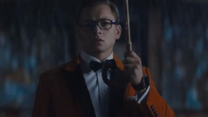 The orange vest of Eggsy in the movie Kingsman: The Golden Circle - Movie Outfits and Products