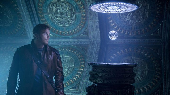 The orb stolen by Star-Lord (Chris Pratt) in guardians of the galaxy movie