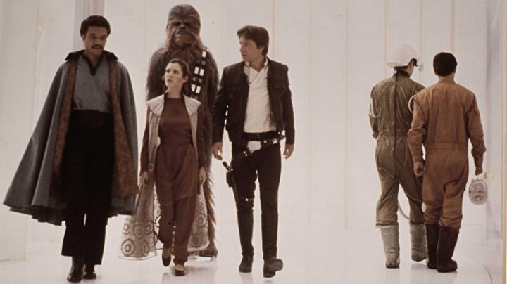 The outfit of Princess Leia (Carrie Fisher) on Bespin in Star Wars V : The empire against attack - Movie Outfits and Products