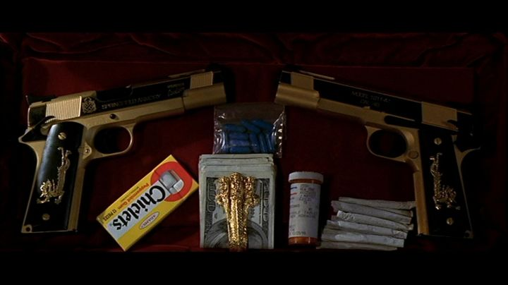 "The package of chewing-gum ""Chiclets"" of Castor Troy (Nicolas Cage) in Volte/​Face movie"