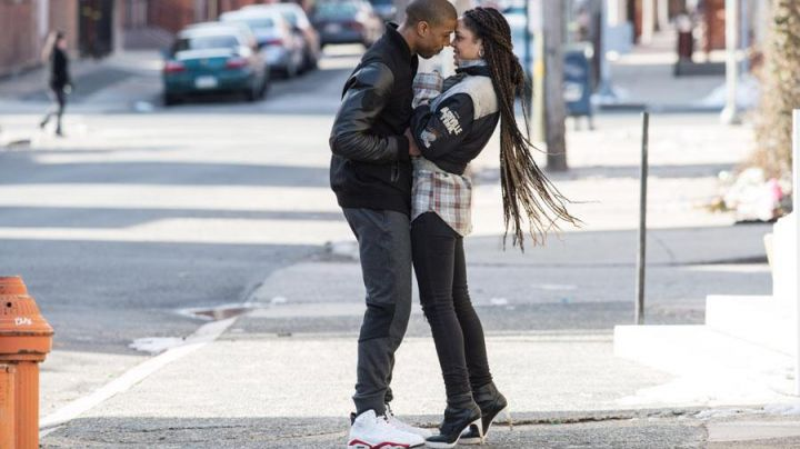 """The pair of Nike Air Jordan 6 Retro """"infrared 2014"""" Adonis Johnson Creed (Michael B. Jordan) in Creed - Movie Outfits and Products"""