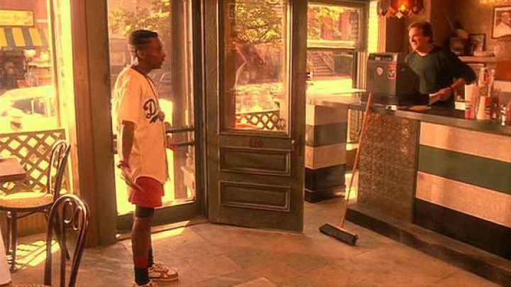 The pair of Nike Air Trainer III Medicine Ball to Mookie (Spike Lee) in Do the Right Thing