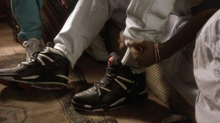 The pair of Reebok Pump Twilight Zone of Bishop (Tupac Shakur) in Juice - Movie Outfits and Products