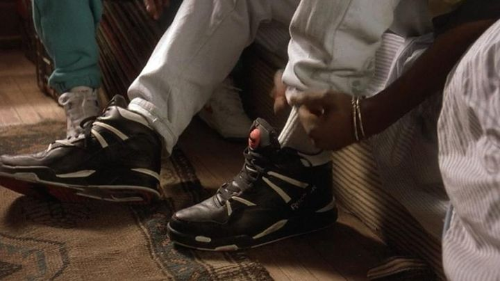 The pair of Reebok Pump black in Juice - Movie Outfits and Products