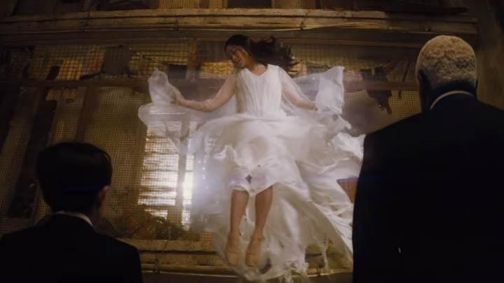 The pair of ballet shoes flesh colour of Hong Chau in Artemis Fowl Movie