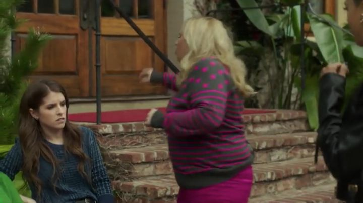The pants pink Dsquared2 Fat Amy (Rebel Wilson) in Pitch Perfect 3 - Movie Outfits and Products