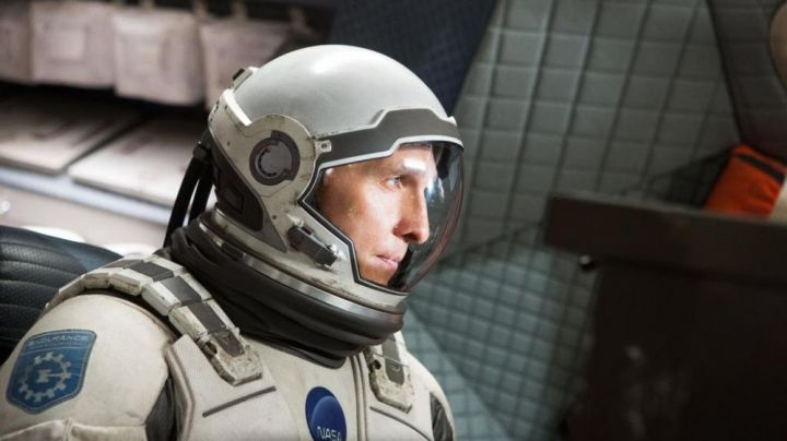 The patch of the mission Endurance on the combination of Joseph Cooper (Matthew McConaughey) in Interstellar - Movie Outfits and Products