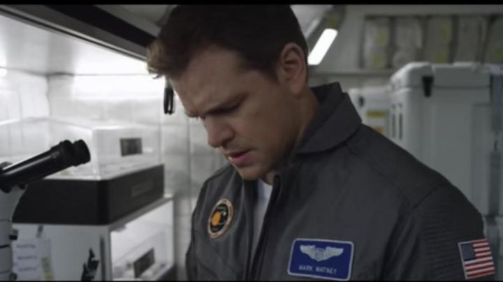 The patches of Mark Watney (Matt Damon) in One on March. movie