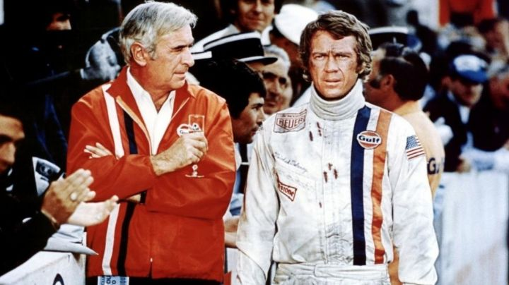 The pilot jacket of the Gulf of Michael Delaney (Steve McQueen) in Le Mans - Movie Outfits and Products
