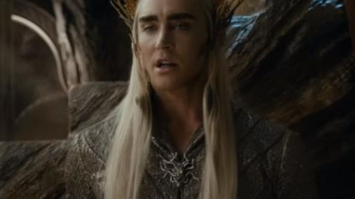 """The pin """"branch"""" of Thranduil aka the King elf (Lee Pace) in The Hobbit : The Desolation of Smaug Movie"""
