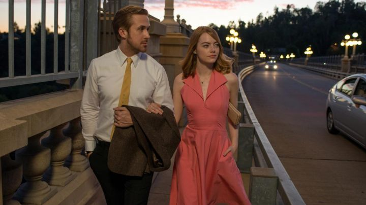 Fashion Trends 2021: The pink dress Mia (Emma Stone) in the The Land