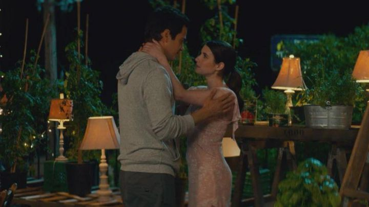 The pink dress and Reformation brought by Nikki Angioli (Emma Roberts) in Little Italy Movie
