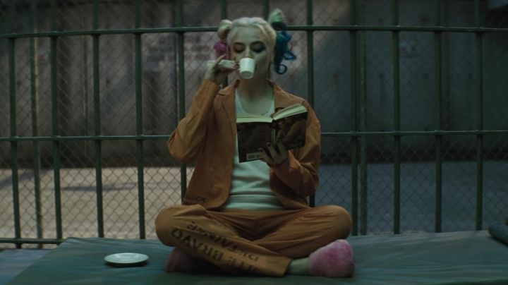 The pink slippers of Harley Quinn (Margot Robbie) in Suicide Squad movie