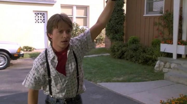 The plaid shirt of Marty McFly (Michael J. Fox) in Back to the Future movie