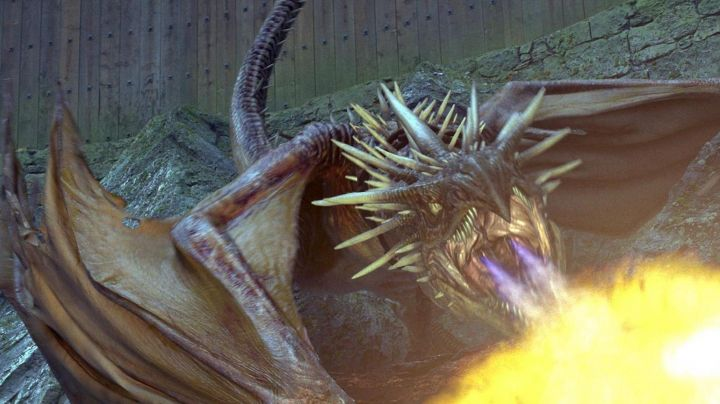 The  plush of the dragon Magyar spiked in Harry Potter and the goblet of fire - Movie Outfits and Products