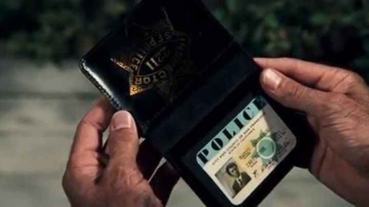 The police badge Harry Callahan (Clint Eastwood) in The Inspector Harry movie