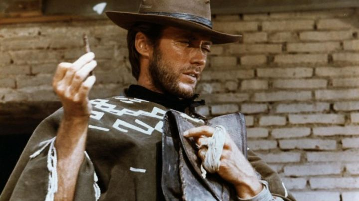 The poncho Joe (Clint Eastwood) in a fistful of dollars movie