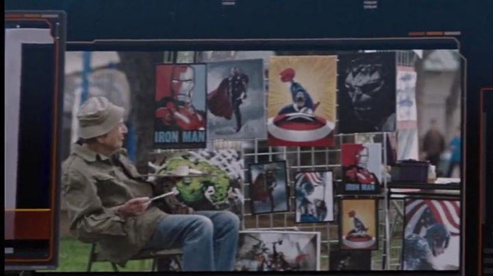 The poster Iron Man style Obama HOPE OBEY in the Avengers Movie