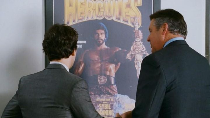 "The poster for ""Hercules"" in I love You, Man - Movie Outfits and Products"