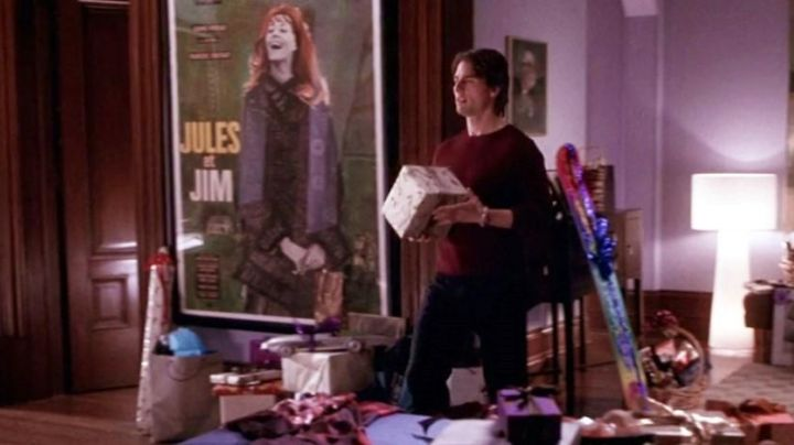 The poster of the film Jules and Jim at David Aames (Tom Cruise) in Vanilla Sky movie