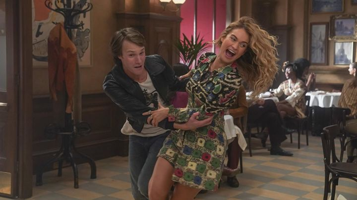 The printed dress from Donna (Lily James) in Mamma Mia! Here We Go Again ! - Movie Outfits and Products