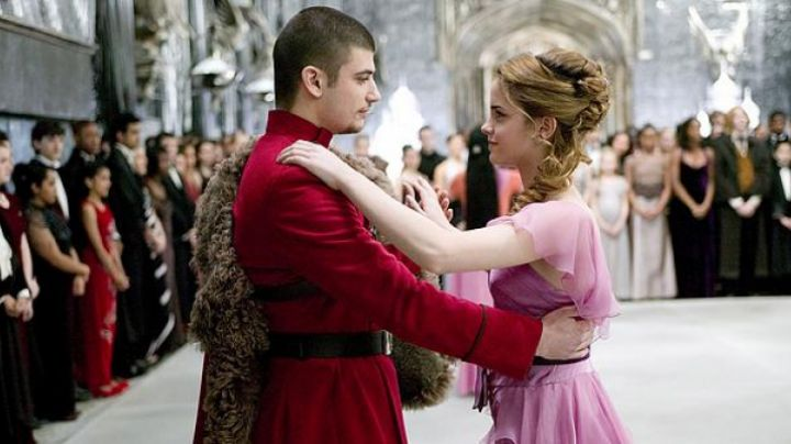 The prom dress of Hermione (Emma Watson) in Harry Potter and the goblet of Fire movie